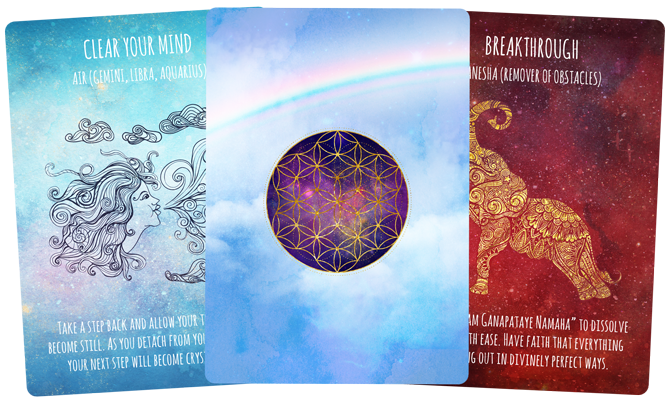Connecting with the Universe Oracle Cards